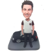 Man with Black Car Bobblehead