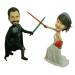 Star Wars Custom Bobbleheads Cake Topper