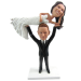 Weight Lifter Wedding Cake Topper