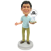 Young Man Birthday Cake Topper Bobblehead