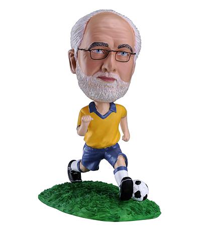 Custom Brazil football bobblehead