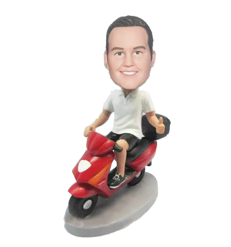 Customized Bobblehead City Scooter