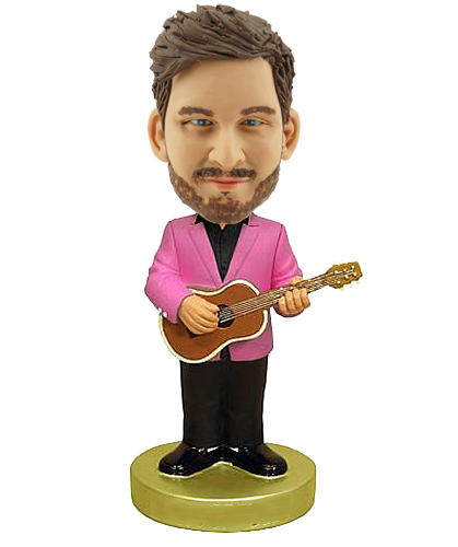 ACOUSTIC Guitar Player personalized Bobblehead