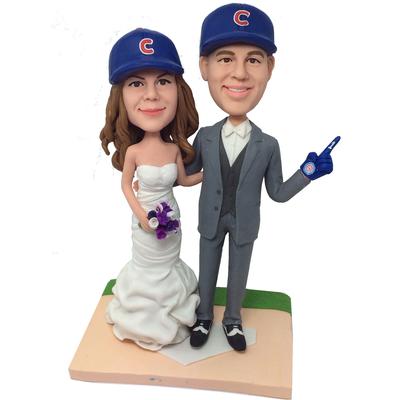 Baseball Fans Wedding Bobbleheads
