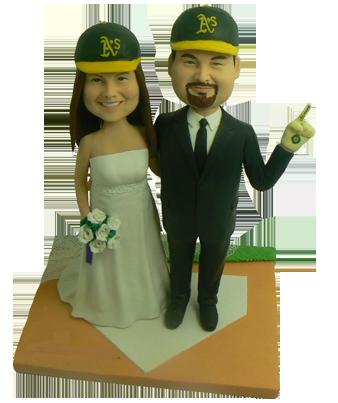 Baseball Fans Wedding Cake Topper
