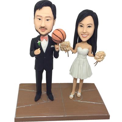 Basketball Couple Bobbleheads