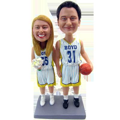 Basketball Theme Wedding Cake Topper