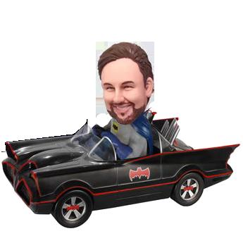 Batman in Car Bobble Head