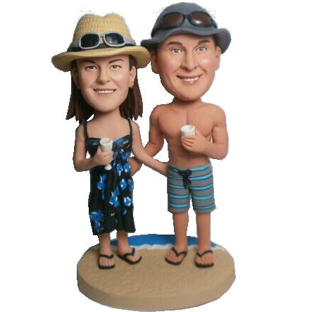 Beach Couple Custom Bobblehead