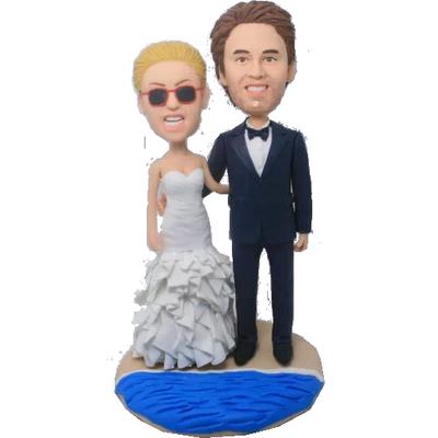 Beach Wedding Bobbleheads