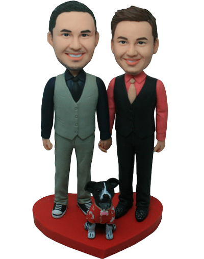 Brothers and Dog Cake Topper