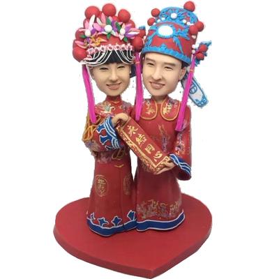 Chinese Couple Wedding Bobbles