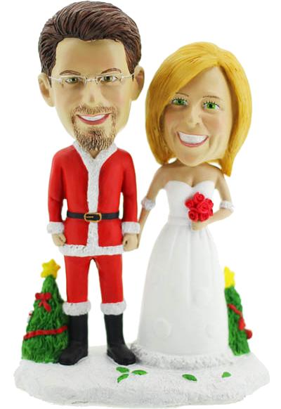 Christmas Wedding Bobbleheads