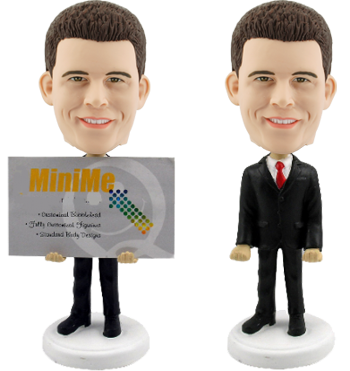 Custom Bobble Head Business Card Holder