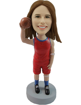 Personalized Bobble Head Girl Basketball