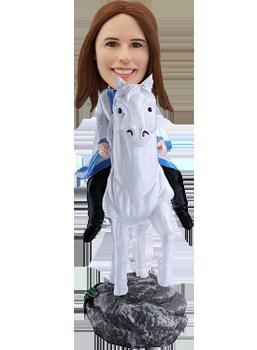 Custom Bobblehead Lady on Horse