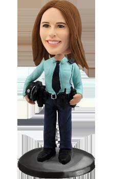 Custom Bobblehead Police Woman