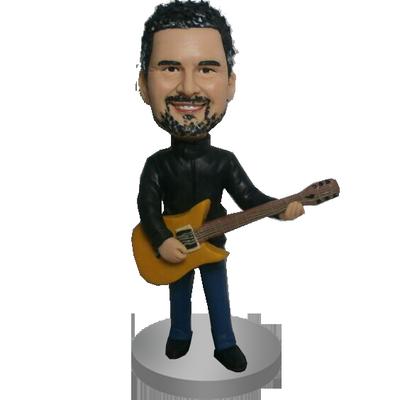 Custom Cool Guitarist Bobblehead