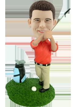 Custom golfer bobble head