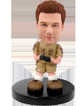 Customized bobblehead Man Adventurer