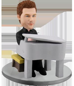 Customized Bobblehead Man Pianist