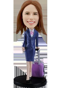 Customized bobblehead Stewardess