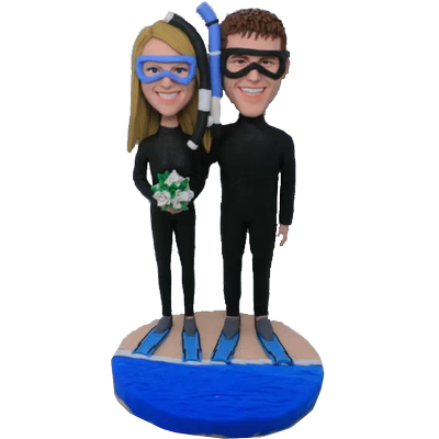 Diving Wedding Bobbleheads