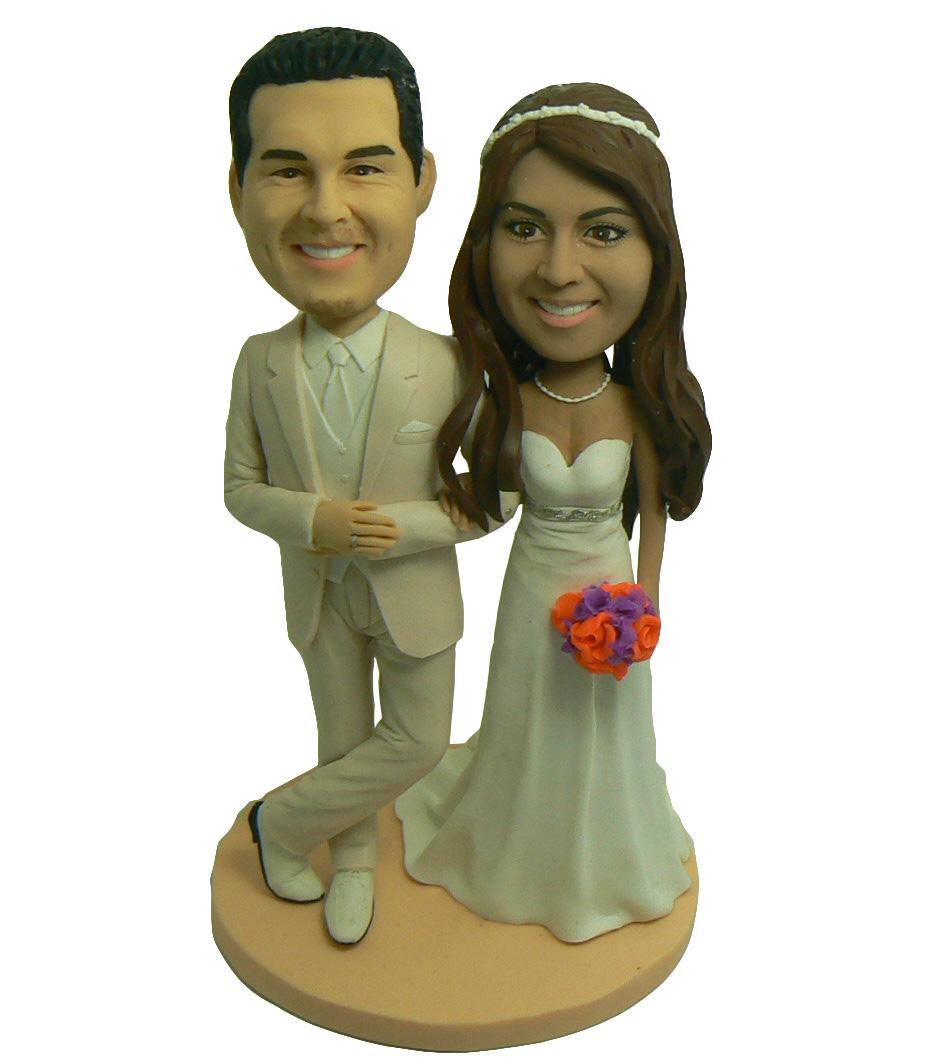 Elegant Couple Cake Topper