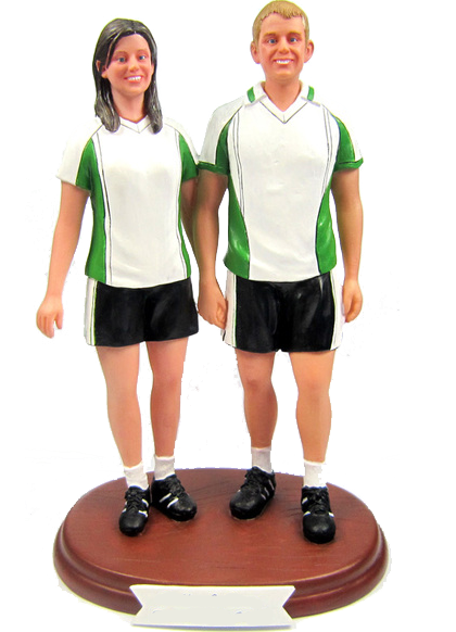 Football Couple Cake Topper
