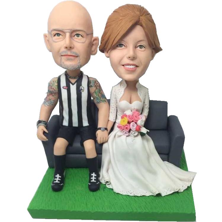 Footy Fan Groom Wedding Bobbles