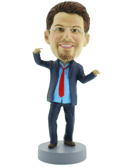 Funny  Business Man Bobblehead