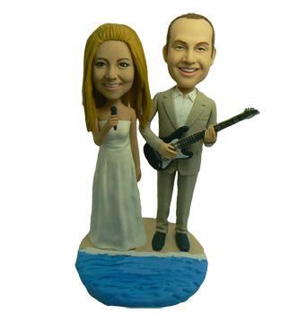 Guitar Wedding Cake Toppers