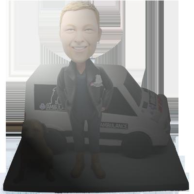 Man and Truck Fully Custom Bobblehead
