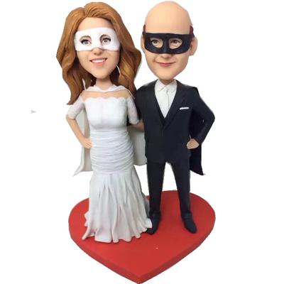 Mask Couple Wedding Bobbleheads