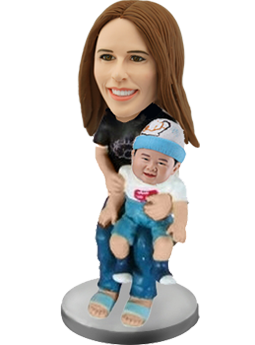 Mother and Baby Custom Bobbleheads