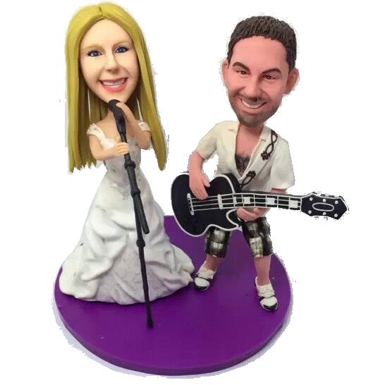 Music Couple Bobble Heads