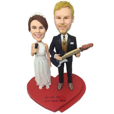 Musician Couple Custom Bobbleheads
