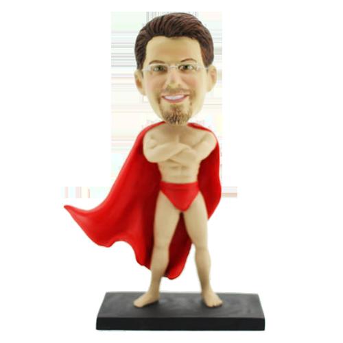 Naked Superman Personalised Bobblehead