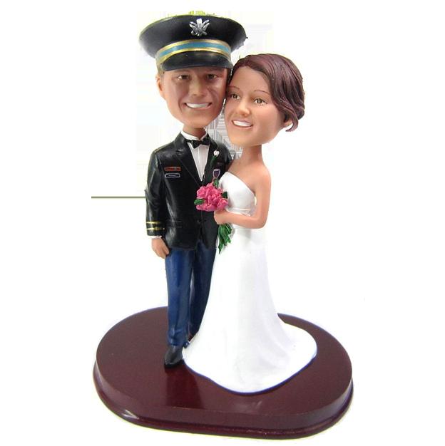 Officer Wedding Cake Topper