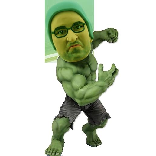 Personalised Hulk Bobblehead