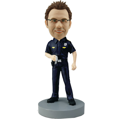 Personalized Police Bobble Head