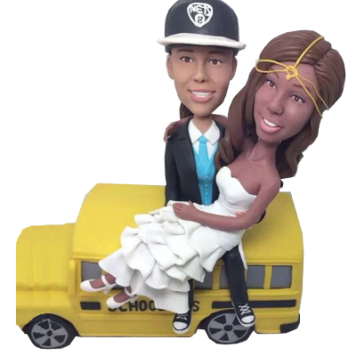 School Bus Driver Wedding Bobbleheads