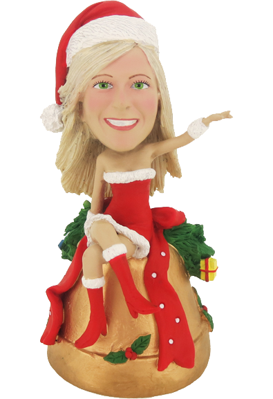 Sexy Christmas Girl Bobble Head