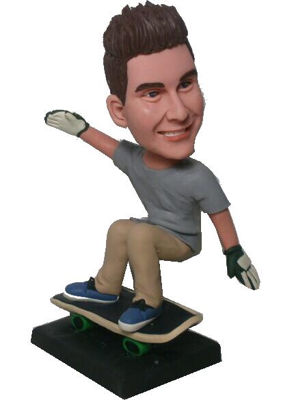 skateboarding boy bobblehead