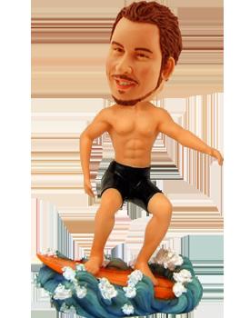 Customised Surfing Bobblehead