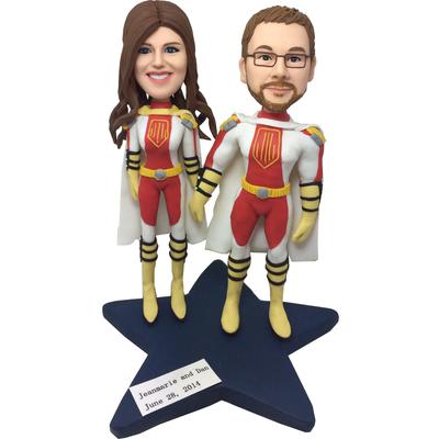 Superhero Couple Bobbleheads