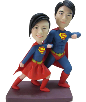 Personalised Super Couple Bobbleheads
