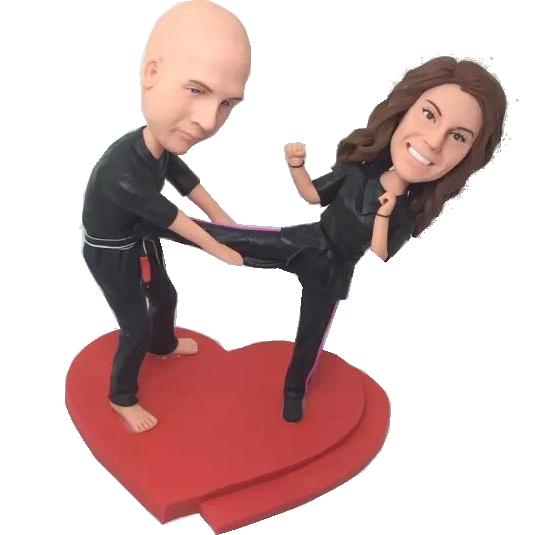 Taekwondo Couple Bobbleheads