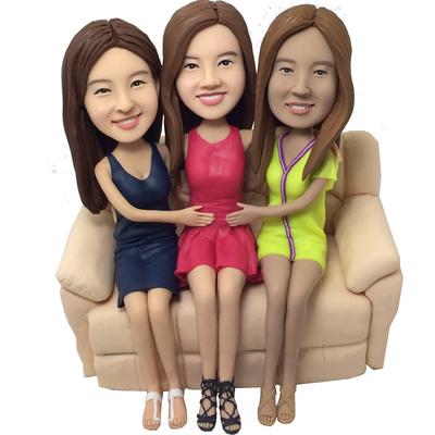 Triple Sisters Wedding Bobbleheads