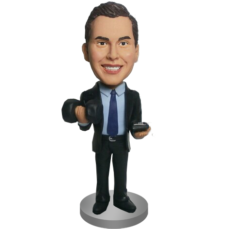 Working Out Accounter Custom Bobble